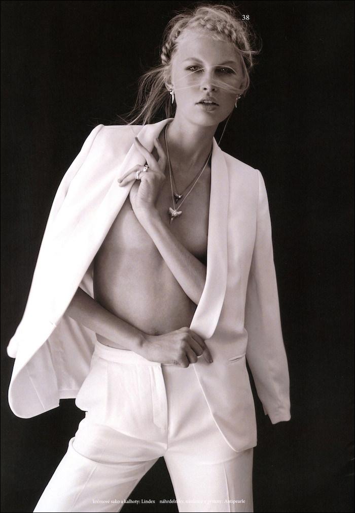 Andrea Hrncirova photographed by Veronika Cechmankova for The Book Magazine, Zero Issue