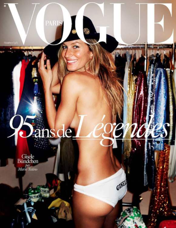 Gisele Bundchen by Mario Testino for Vogue Paris