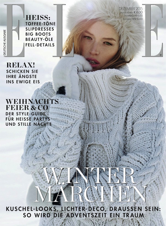 Ann Koster covers Elle Germany