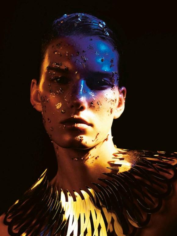 Marique Schimmel by Jonas Bresnan for Stylist France