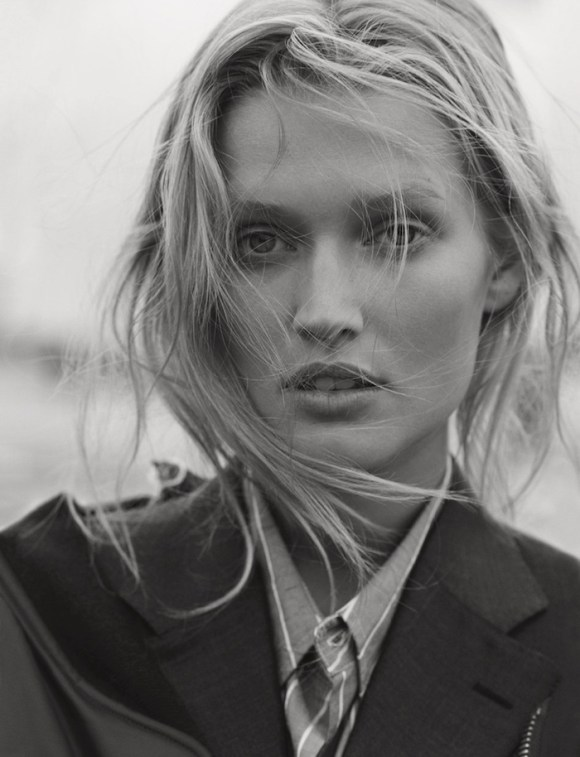 Toni Garrn by Matthew Brookes for GQ Germany