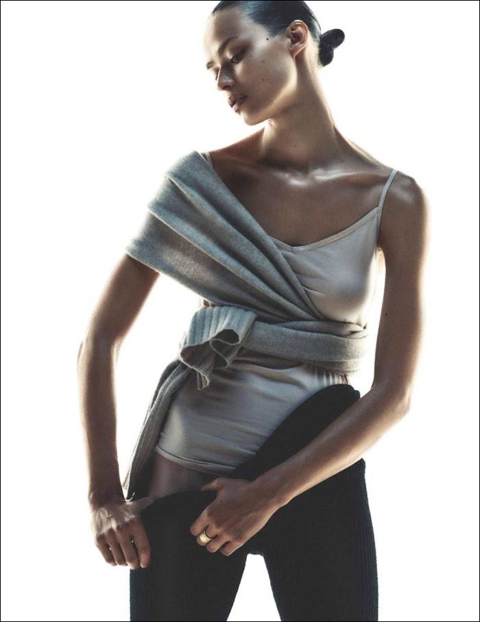 Birgit Kos by Andreas Sjodin for Elle France
