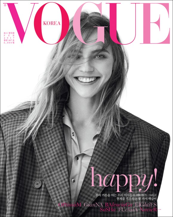 Sasha Pivovarova by Peter Ash Lee for Vogue Korea