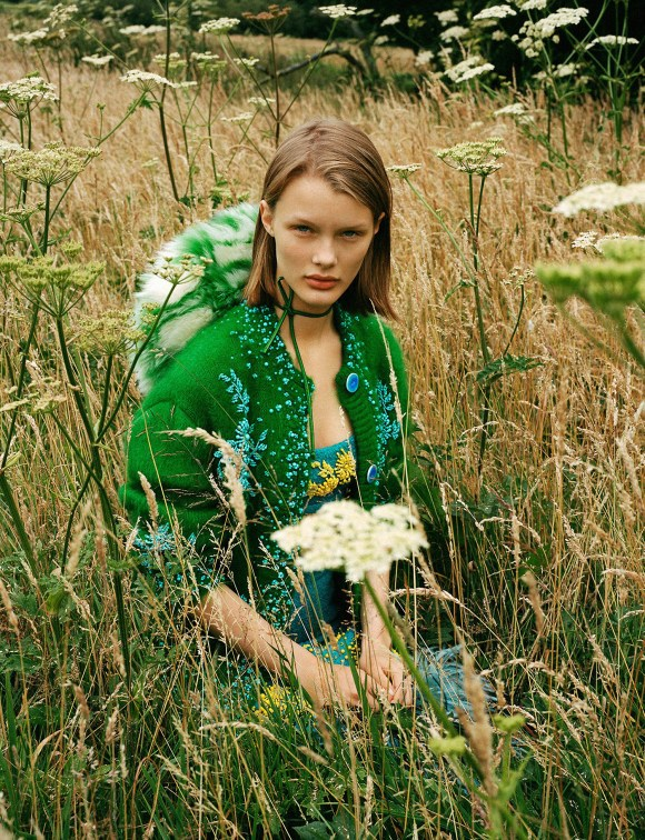 Kris Grikaite by Ben Toms for Vogue China