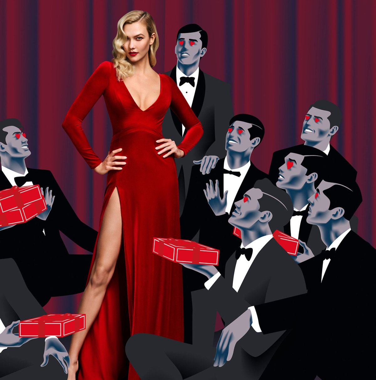 Karlie Kloss by Serge Leblon for Carolina Herrera