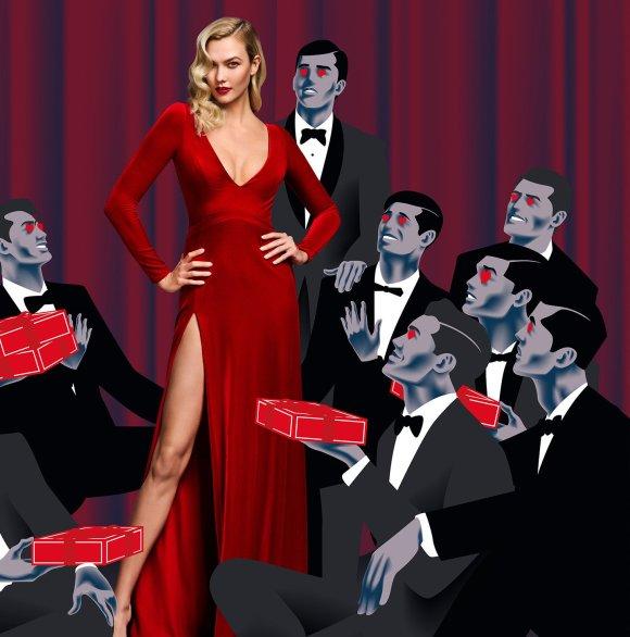 Karlie Kloss by Serge Leblon for Carolina Herrera