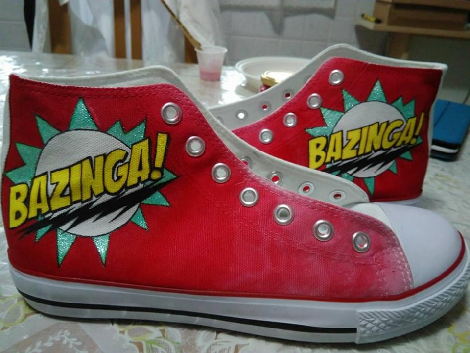 Scarpe personalizzate - Bazinga Sheldon Cooper