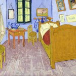 la camera da letto dell'artista vincent van gogh