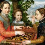 sofonisba anguissola-lucia, minerva e europa anguissola giocano a scacchi