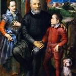 sofonisba anguissola-ritratto di famiglia, minerva, amilcare e asdrubale