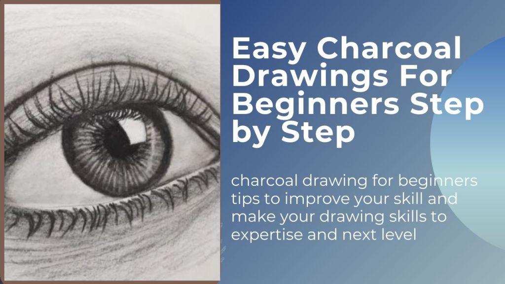 eye charcoal drawing