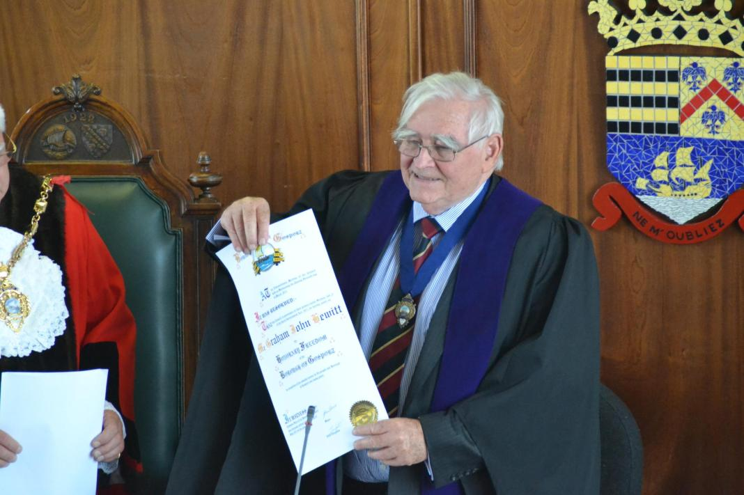 Graham received the Freedom of the Borough of Gosport in 2013. Picture: Phil Hewitt