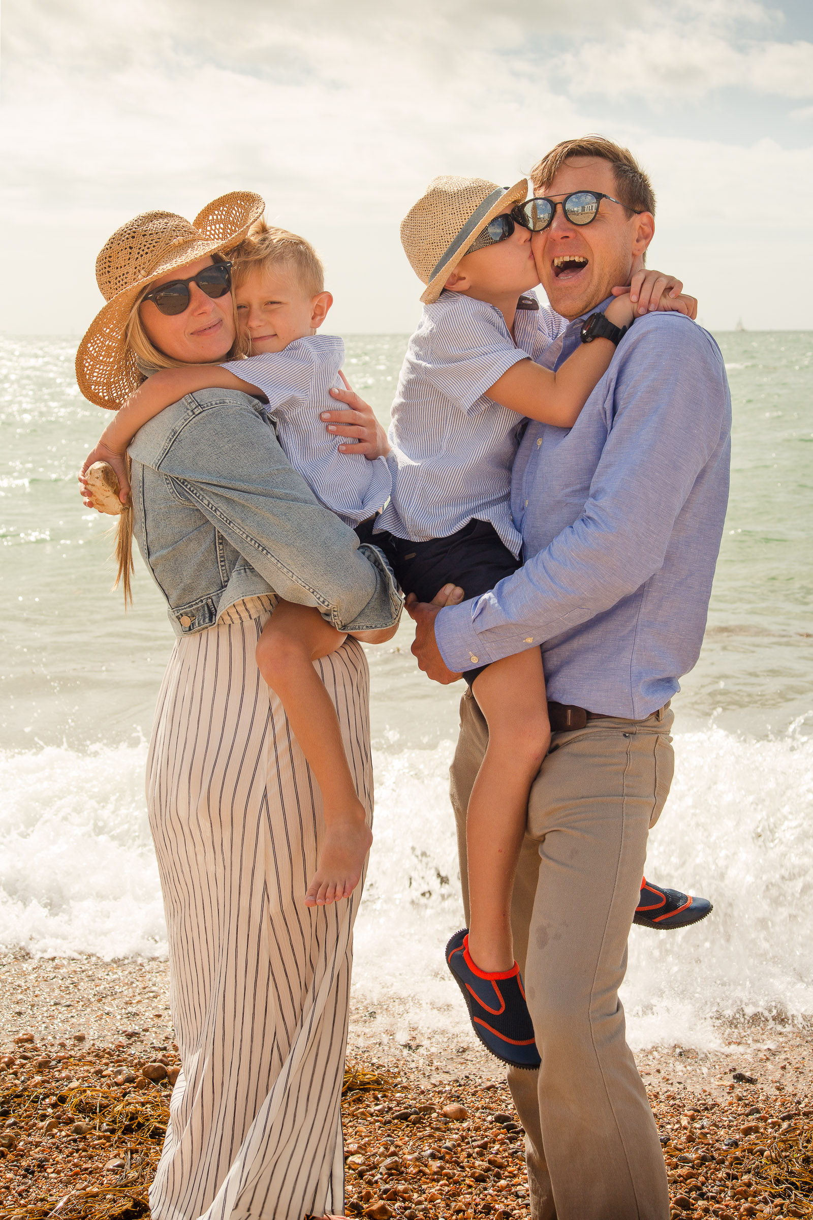 Happy family portrait photoshoot Portsmouth Hampshire