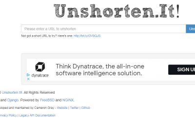 Unshorten.it – Como Comprovar Se Um URL é Verdadeiro ou Nao?