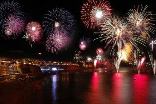 New Years Fireworks in Albufeira