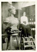 Ильда в мастерской скульптора Симоэша ди Алмейды