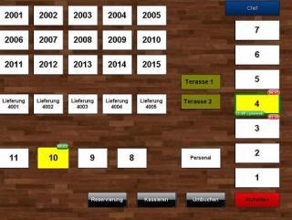 Kasse Software Tischplan