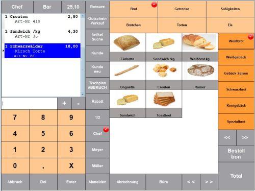 Maxstore Kassensoftware Bäckerei