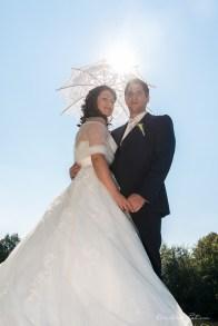 Couple de mariés au soleil de Haute-Saône