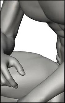 Male Crouching Figure Reference Pose - Set 02