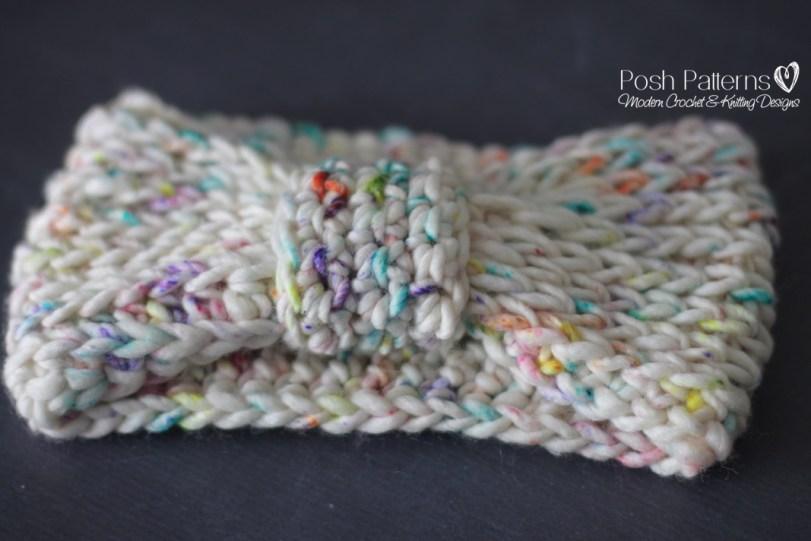 Free Crochet Pattern Knit Look Headband
