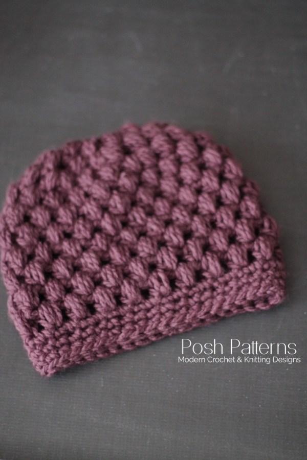 d7bea05989855 Crochet Messy Bun Hat Pattern