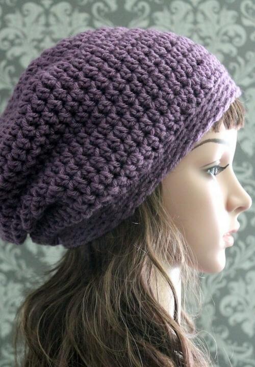 Maribel slouch crochet hat pattern | little monkeys crochet.