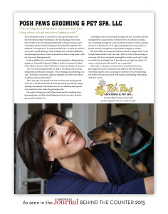 Posh Paws in Behind the Counter Magazine 2015