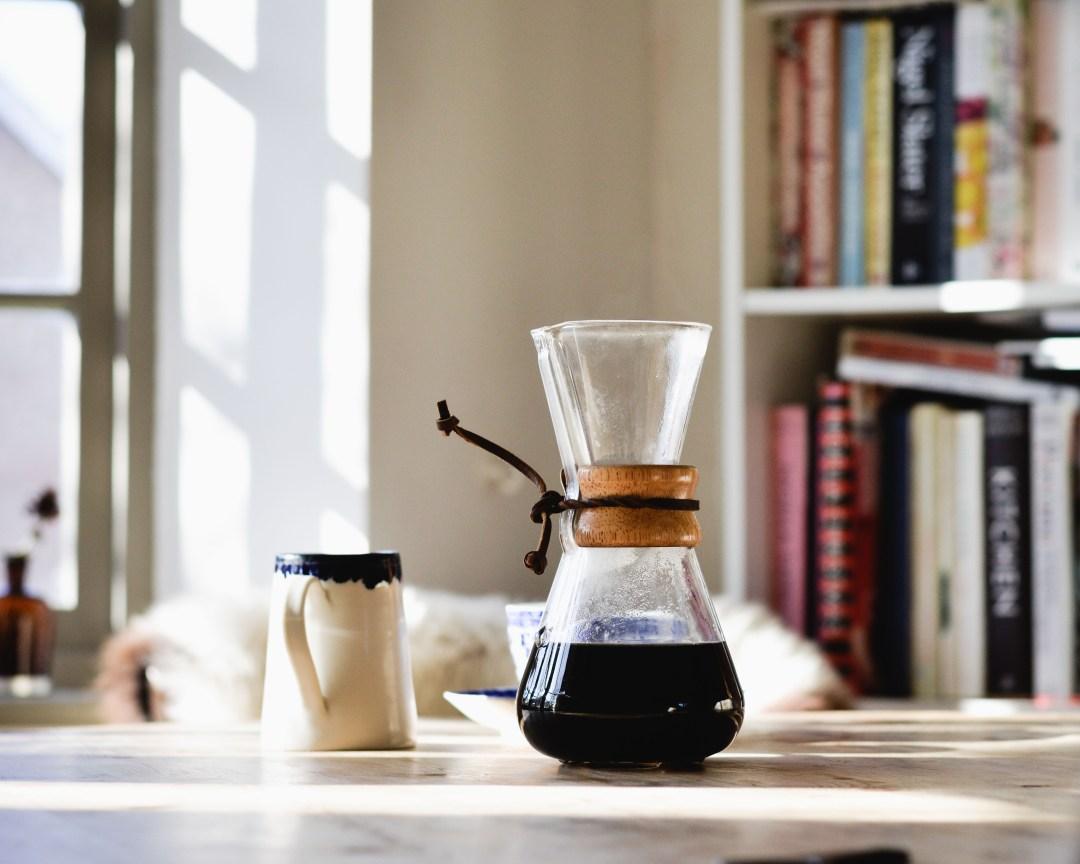 morning coffee, chemex, poshyarns