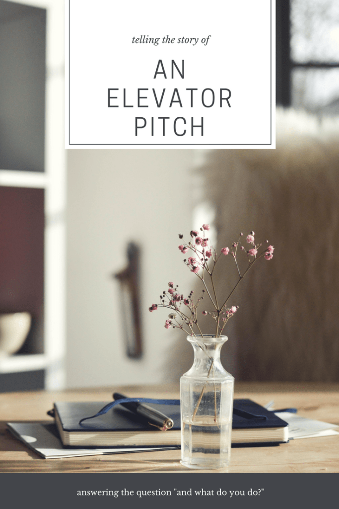 how to write your elevator pitch