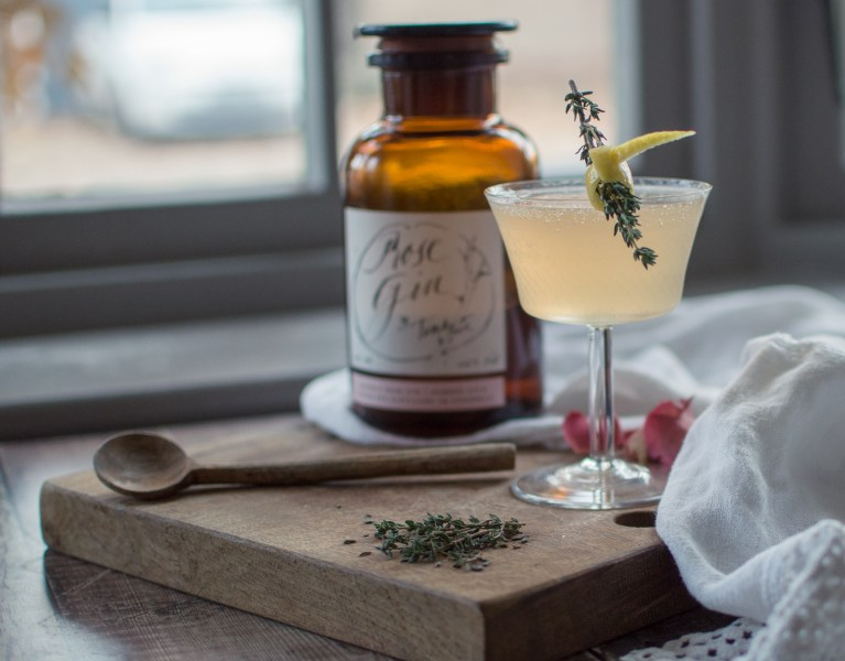 French 75 in vintage coupe glass
