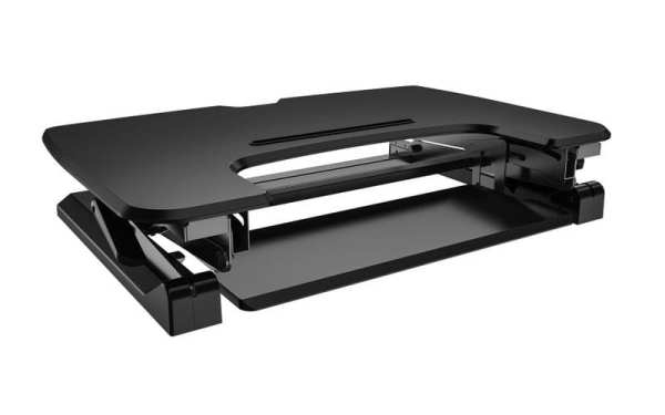 posidesk POSI209BK sit stand desk with retractable keyboard tray 1