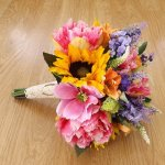 Wildflower Sunflower Brides Bouquet Artificial Wedding Flowers