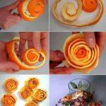 How to make orange peel roses