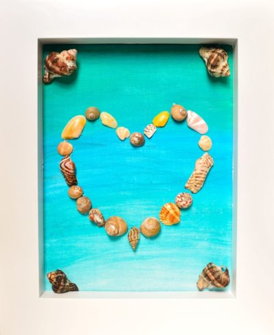 Seashell Craft Idea: Framed  Heart