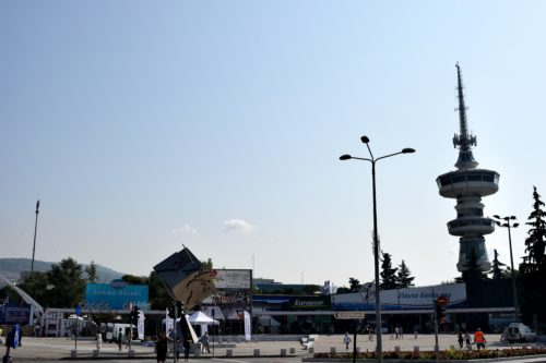 The entrance to the 82th International Fair Of Thessaloniki