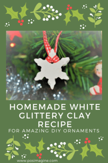 Christmas DIY Ornaments with homemade clay recipe