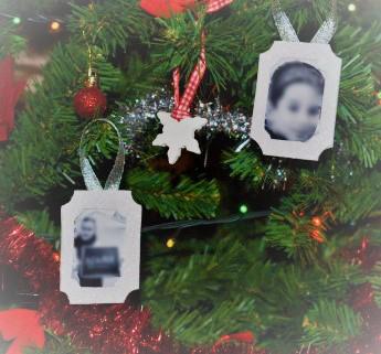 glitter foam ornaments christmas tree