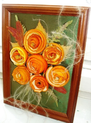 Framed orange flowers