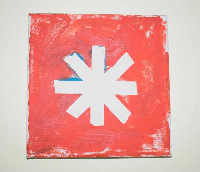 painters tape star canvas art