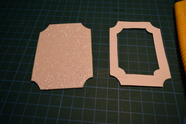 glitter foam photo ornaments frame