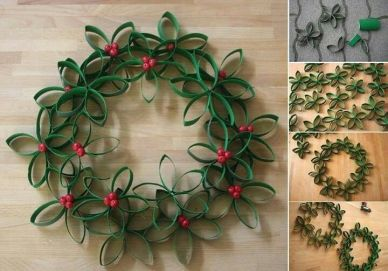 Wreath out of tubes
