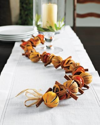 Dried Citrus Christmas Decor dried fruit and spices garland