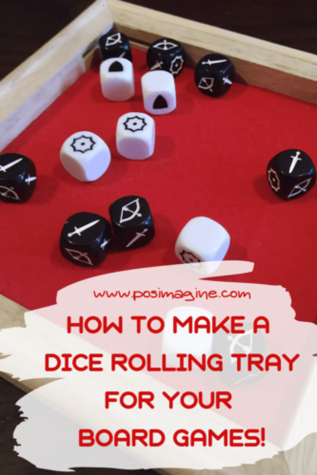 How to make a dice rolling tray for your board games!