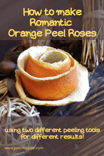 Orange Peel Roses: Step by Step photo instructions