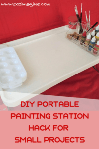 DIY Portable painting station for small projects