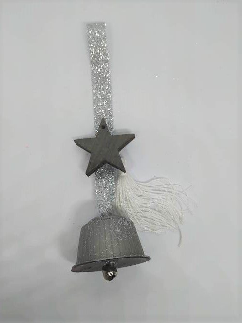 diy christmas bell ornaments silver 2