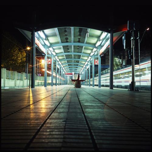Alone train station