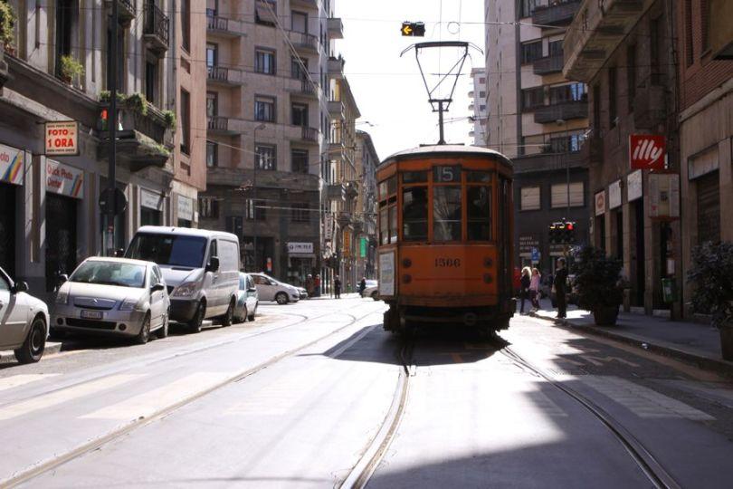Milano, tram, 27 Marzo 2010