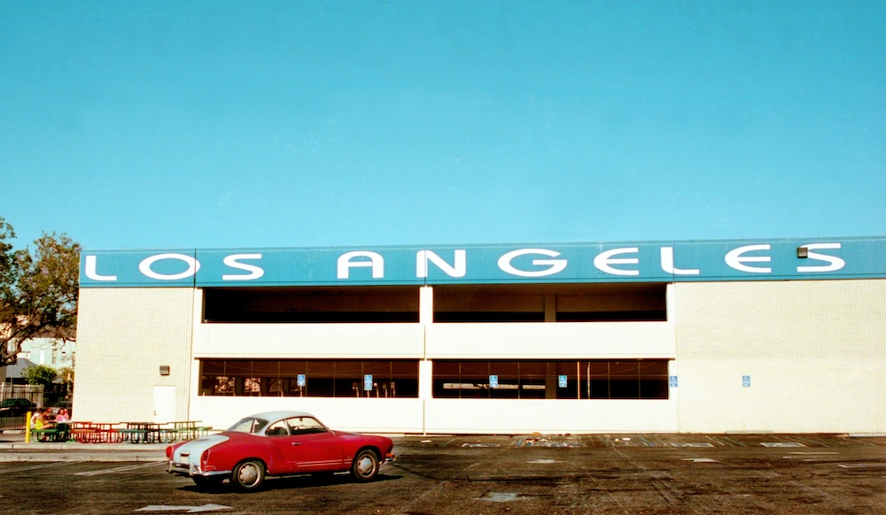 los angeles with car